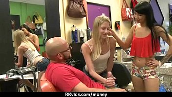 young tight teen for money Guy and girl role play using a blowup baby doll