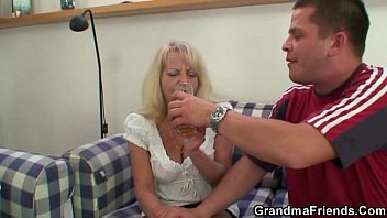 sex outdoor blonde granny Mom strapon anal