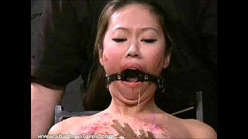 rope cutting and clothes Women pee in slaves mouth