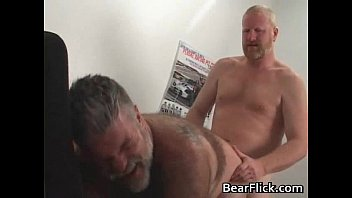 muscle hairy hung gay Two matures mouth cum