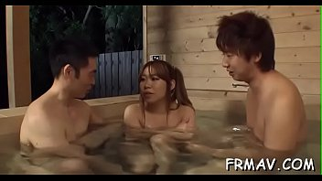 strap japanese on with hubby Teen seduces you